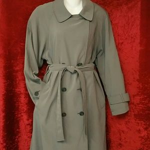 Jackets & Blazers - GREY TRENCH COAT W/ REMOVABLE LINING SIZE 10